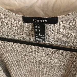 Forever 21 Jackets & Coats - Forever 21 - Gray Cover Up